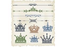 皇冠页面花纹花边