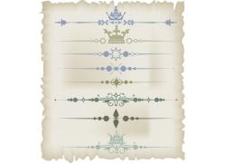 皇冠花纹页面装饰元素