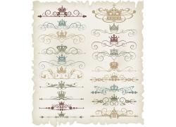 植物花纹皇冠页面装饰元素
