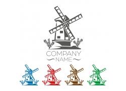 卡通风车logo设计