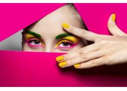 彩妆模特双眼美女