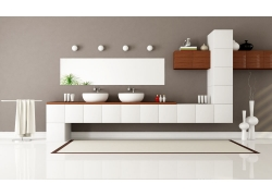 现代简约洗手间装修设计