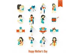 卡通母亲影响图标设计