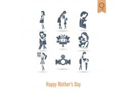 母爱形象母亲节海报