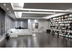 现代简约风格图书室装修