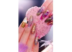 华丽花纹指甲
