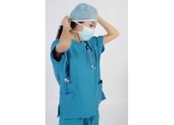 带医疗帽子的护士