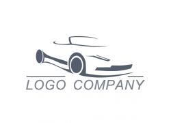 卡通跑车logo设计