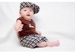 帽子可爱宝宝