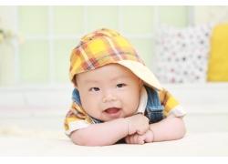 戴帽子可爱宝宝