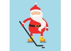 打冰球的圣诞老人