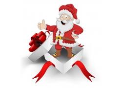 站在礼盒里的圣诞老人