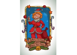 竖大拇指的圣诞老人