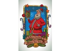 手捧着礼物的圣诞老人