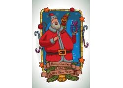 卡通猴子与圣诞老人