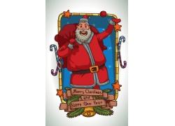 扛礼物的圣诞老人漫画