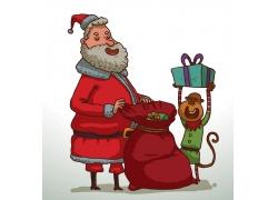 圣诞老人与猴子