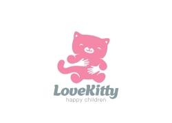 卡通猫咪logo设计