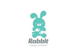 卡通兔子logo设计