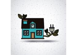 蓝色房子带插销