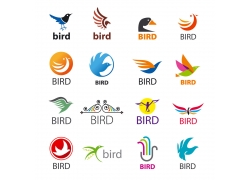 卡通小鸟logo设计