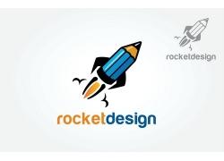 火箭铅笔logo设计