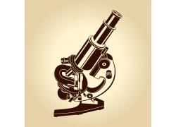 卡通显微镜插图