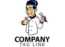 卡通厨师logo设计