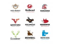 创意卡通动物logo设计