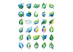 创意卡通树叶logo设计