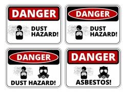 灰尘毒气危险标识牌