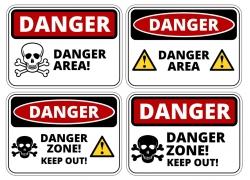 危险区域警示牌