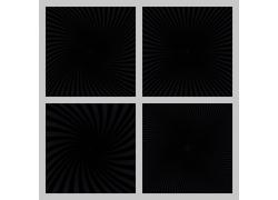 黑色立体的线条图案