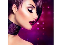 紫色彩妆美女摄影