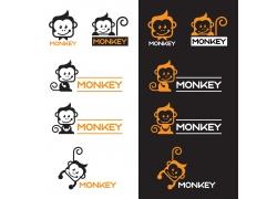卡通猴子logo设计