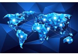 世界地图和网络