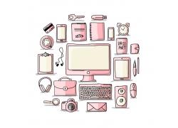 粉色电脑科技