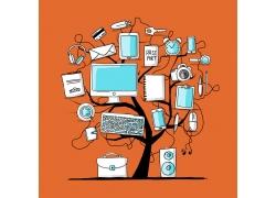 树上的数码产品