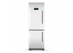 白色双开门冰箱