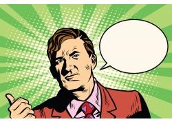 对话框与职业男性插画