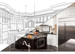 现代简约开放式厨房装修