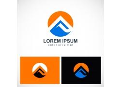 卡通山峰logo设计