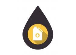 卡通水滴石油图表设计