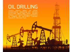 石油开采背景设计