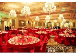 红色中国风婚礼现场