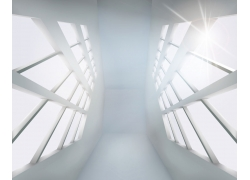 个性几何空白空间