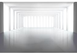 方形落地窗空白室内