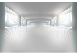 白色方形空间室内