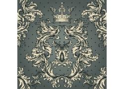 皇冠欧式花纹背景