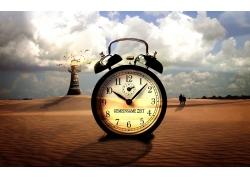 沙漠里的钟表